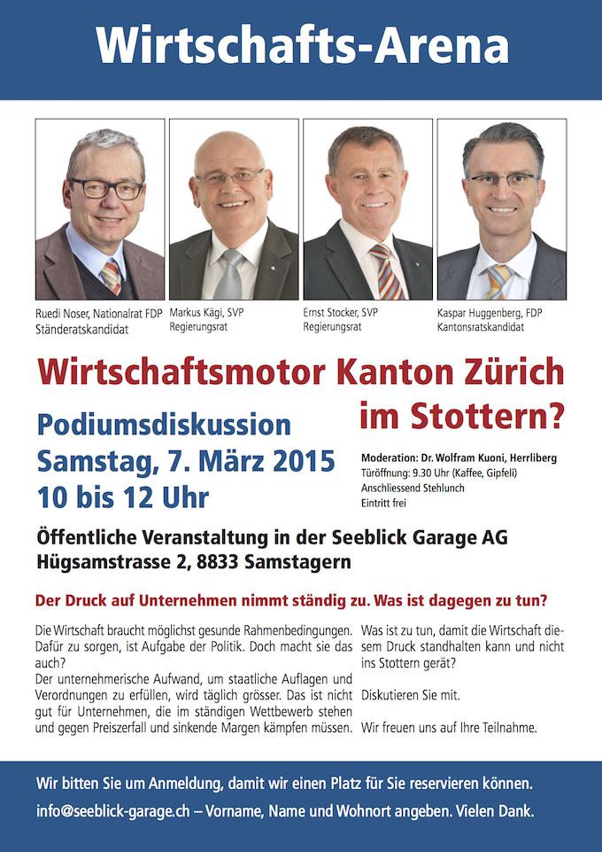 Wirtschaftsmotor Kanton Zürich 7.3.2015
