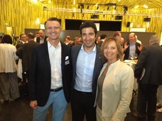 Nationalrat Andrea Claudio Caroni mit den NR Kandidaten Ursula Gross Leemann und Kaspar Huggenberg